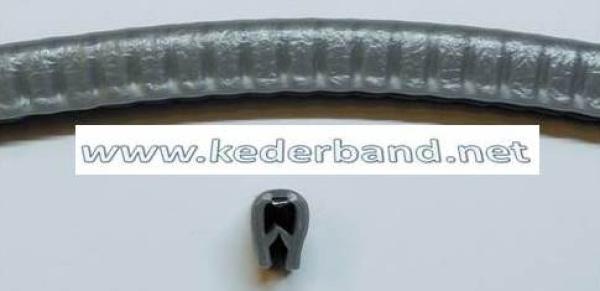 10-m Kantenschutzprofil Schwarz PVC Kantenschutz Stahleinlage Klemmbereich 1-2mm